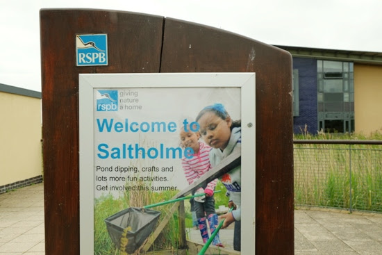 RSPB Saltholme welcome sign