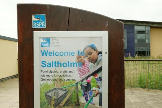 RSPB Saltholme welcome sign