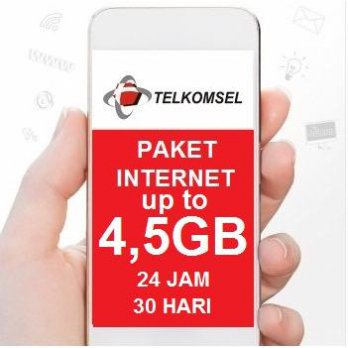 Telkomsel Data Internet Up To 4.5GB (Simpati, Kartu AS, Loop ), 24jam, 30hari, bonus pulsa Rp 10rb