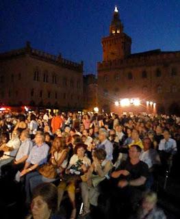 Outdoor Movies Piazza Maggiore Bologna Italy