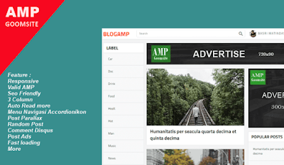 Blogamp Blogger Template Responsive Valid AMP