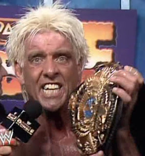 WWF ROYAL RUMBLE 1992 - Ric Flair gives an interview after winning the WWF/WWE Title for the first time