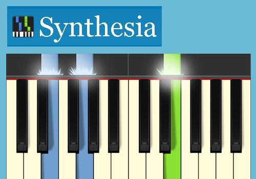 klavier spielen am pc und auf der tastatur musik. Black Bedroom Furniture Sets. Home Design Ideas