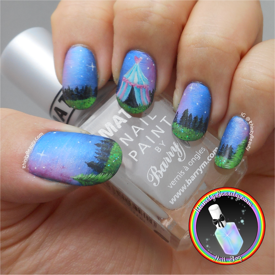 Freehand Midnight Circus In The Forest Ithinitybeauty Nail Art