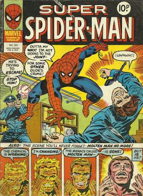Super Spider-Man #261, the Molten Man