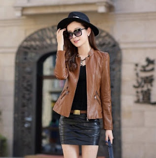 Gambar Model Jaket Kulit Wanita Modern