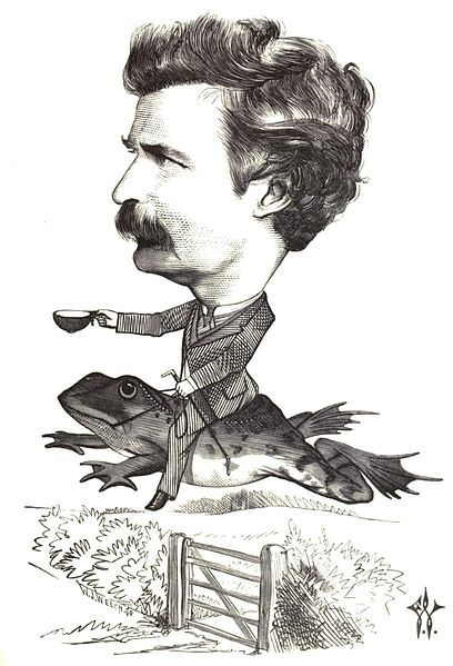 Mark Twain portrait by Frederick Waddy