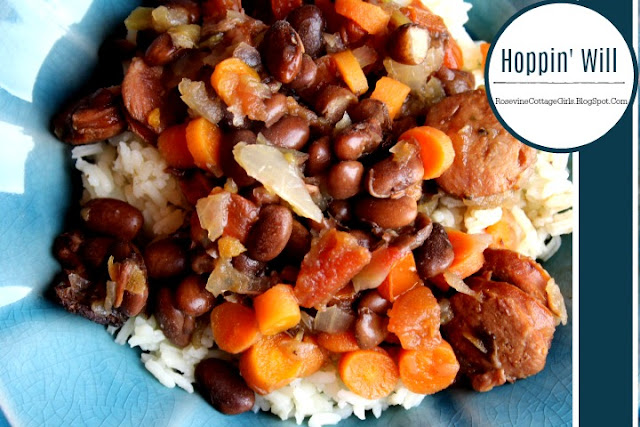 Hoppin John, Hoppin Will, Hopping John, New Years Food, Lucky Food, by Rosevine Cottage Girls Southern food