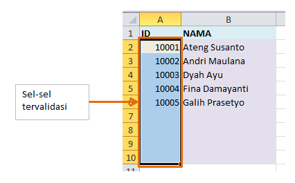 How to select all validated cells