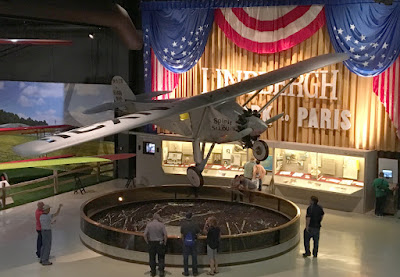EAA Aviation Museum Lindbergh Spirit of St Louis Display
