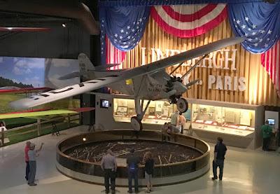EAA Aviation Museum Lindbergh Spirit of St Louis Display