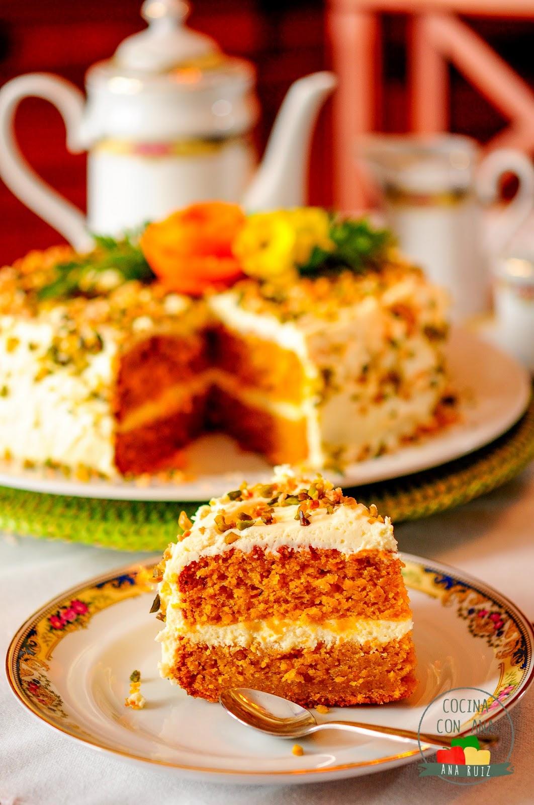 Tarta De Zanahoria Con Crema De Queso Con Thermomix Y A Mano Cocina Con Ana Precalentamos el horno a 200°c en primer lugar, vamos a triturar las almendras. tarta de zanahoria con crema de queso