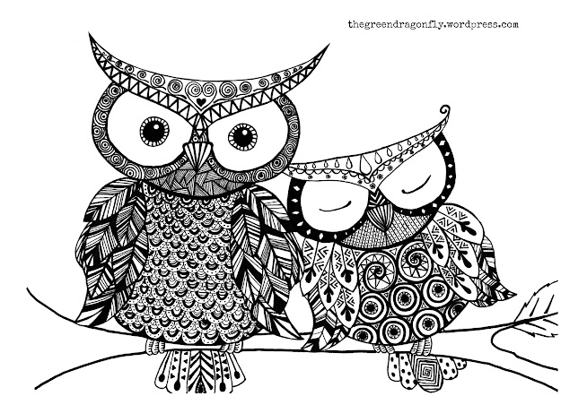 Color Owl Colouring Coloring Page