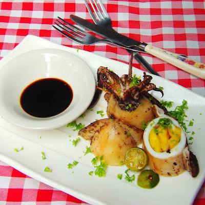 stuffed squid, grilled squid, squid recipe,grilled squid recipe, cooking squid at home