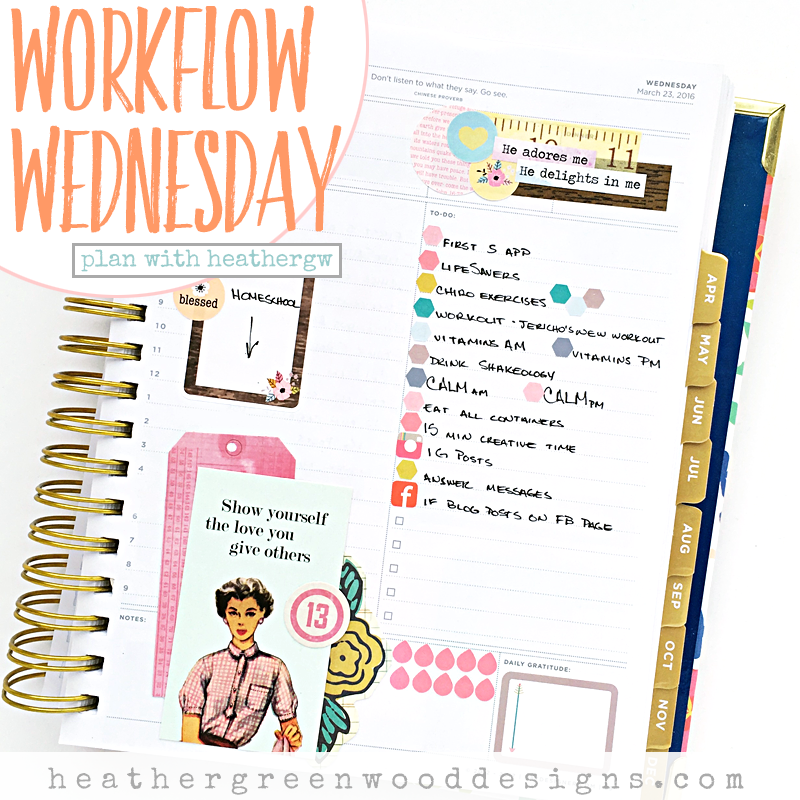 a plan with heathergw process video showing planner decorating with The Reset Girl stickers in a The Day Designer Flagship agenda