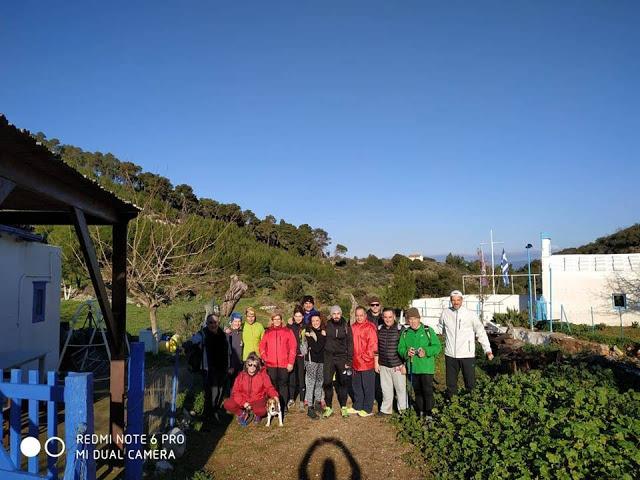 Με καλό καιρό η 2η πεζοπορική εκδρομή του Συλλόγου Δρομέων Ύδρας