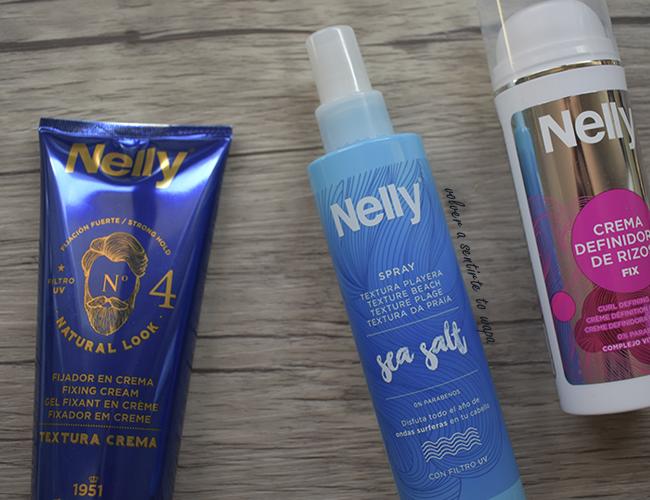 Crema definidora de rizos, un Spray para ondas surferas y un fijador en crema de Nelly