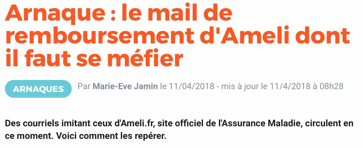 Grand Euville   4 villages  Arnaque   le mail de remboursement d ... 5cc2f45493d8