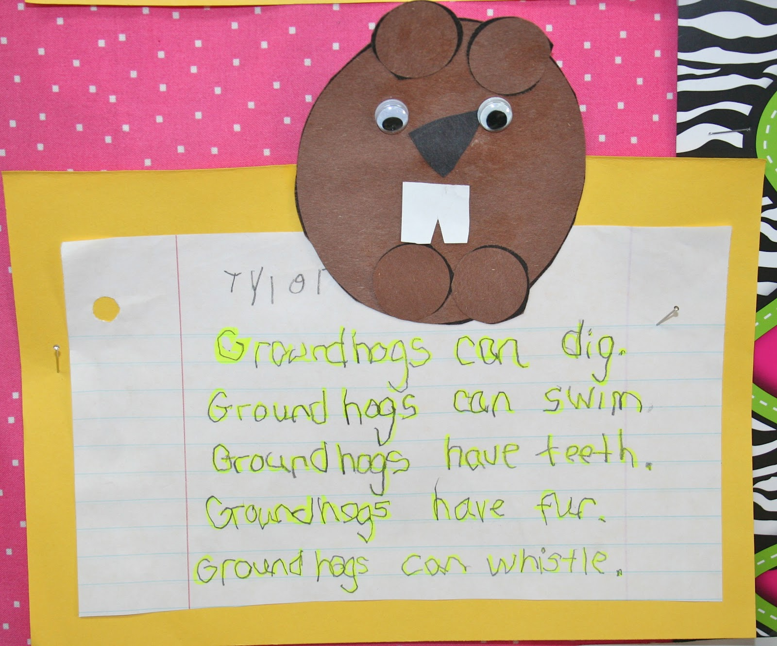 Mrs Lisa S Pre K Crew Rocks Groundhog Day Oh What Fun