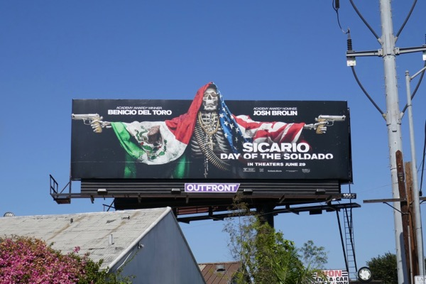 Sicario Day of Soldado extension cut-out billboard