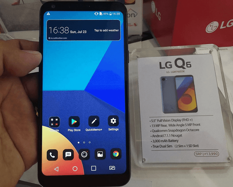 LG Q6 With 18:9 Screen Is Now In PH For PHP 13990