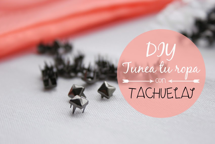 Diy customizar camiseta con tachuelas