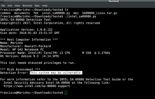 Como saber ser o processador do seu Linux está vunerável a nova falha da INTEL