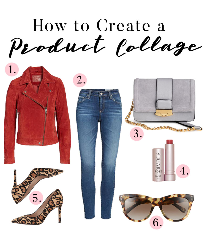how to make a product collage, product collage tutorial, fashion blogger tips