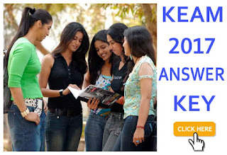 KEAM Answer Key 2017, KEAM 2017 Answer Key for Set A, B, C, D. CEE Kerala Engineering Agriculture and Medical Answer Key 2017