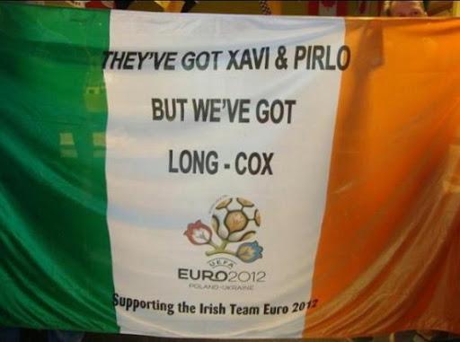 Cheeky Irish banner at Euro 2012
