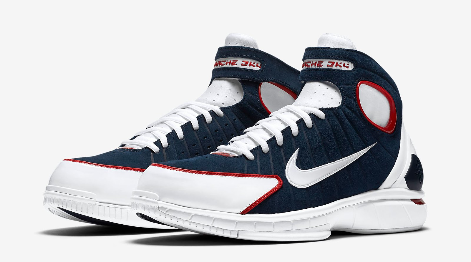 19bde98cb04a Nike Air Zoom Huarache 2K4 Midnight Navy White-University Red Release  Reminder