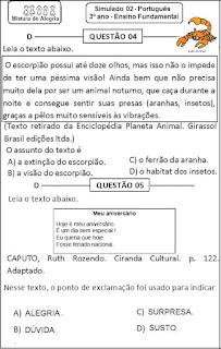 Simulado português 3º ano