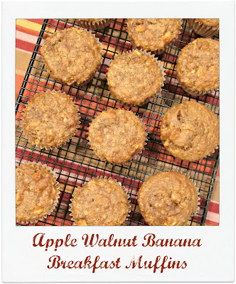 Apple Walnut Banana Breakfast Muffins, shared by Jenn's Random Scraps at The Chicken Chick's Clever Chicks Blog Hop