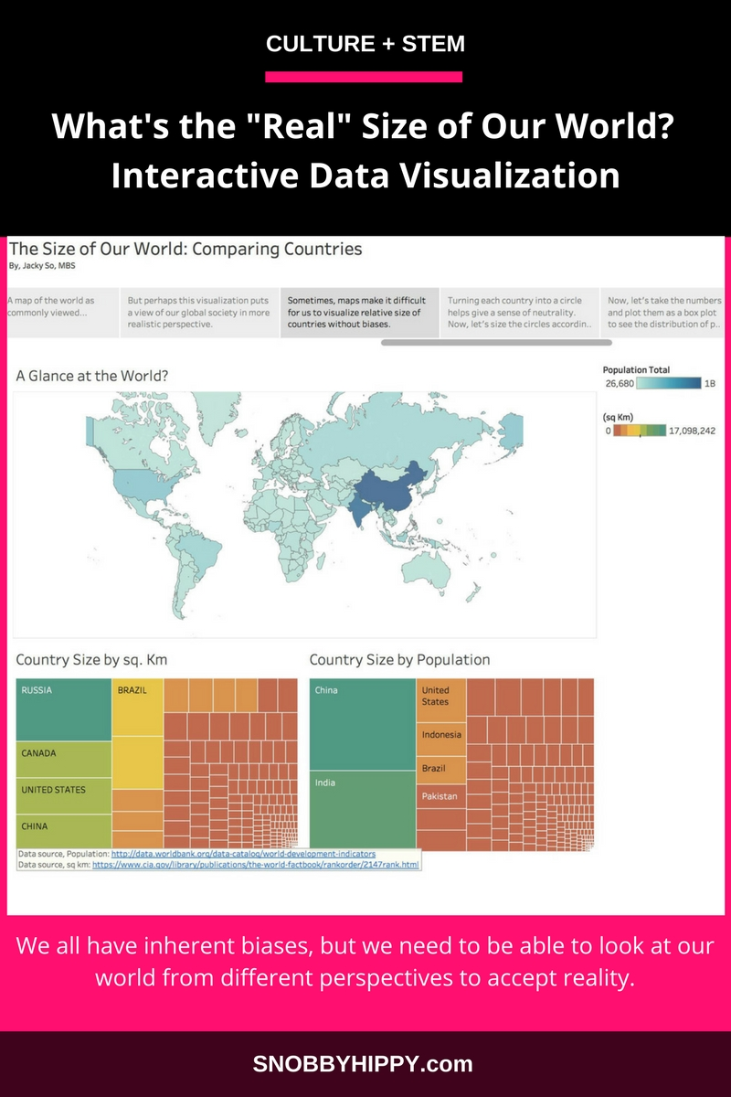 Interactive Data The Real Size Of Our World