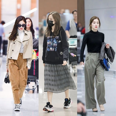 kpop idol fashion airport for hijabers