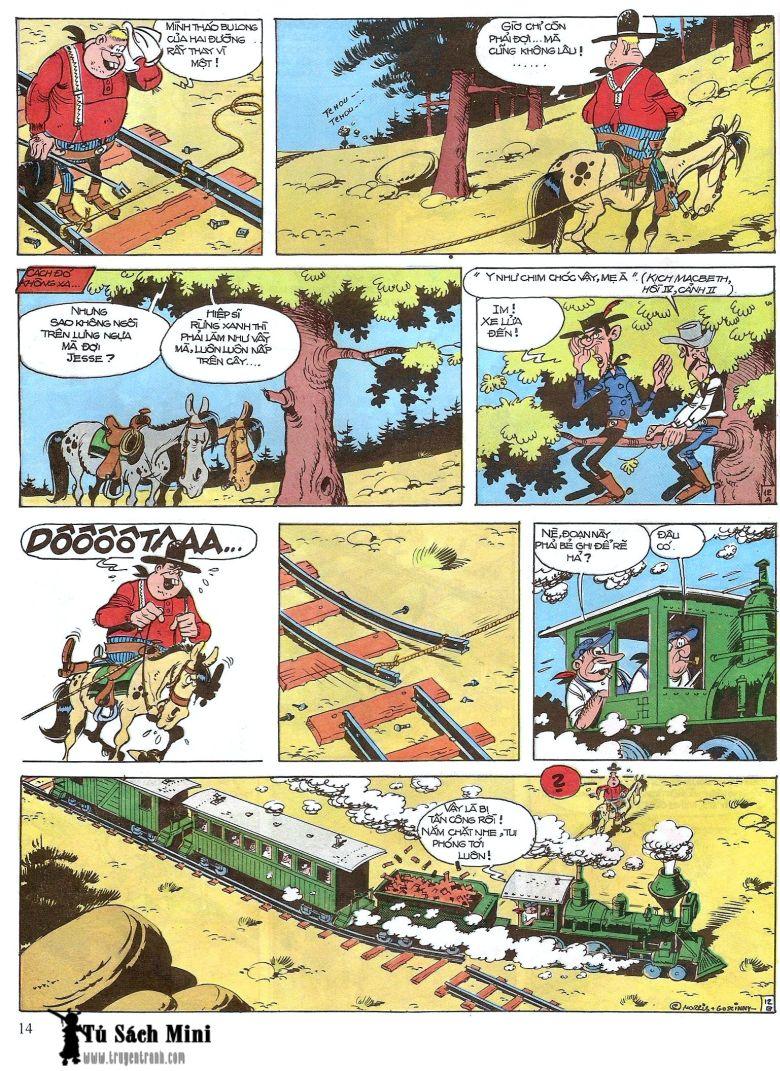 Lucky Luke tap 16 - jesse james hiep si rung xanh trang 16