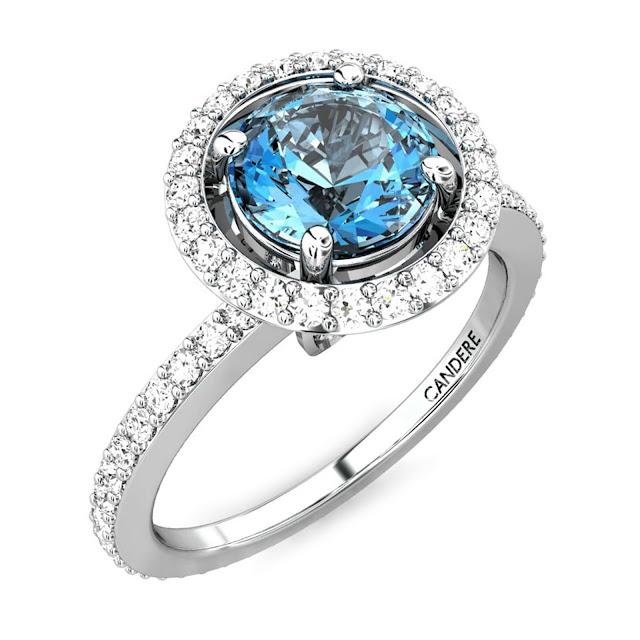 Velvetcase.com- Delta Aquamarine Ring - Rs 55,939
