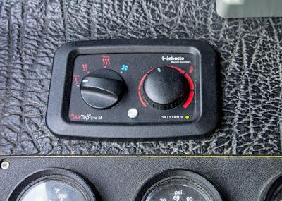 Photo of the Webasto heater controls