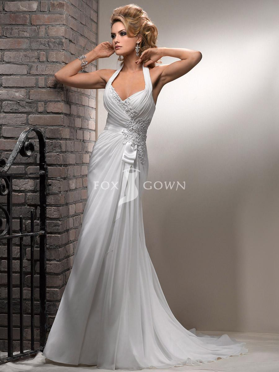 The halter neck wedding dresses reviews wedding celebration for Beach wedding dresses online