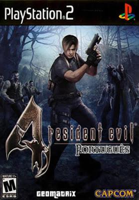 capa pt-br Resident Evil 4 PS2 2005 Playstation 2 jogo sem virus