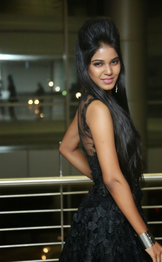 Deborah In Hot Black Dress at The Pink Affair Fashion Show Stills