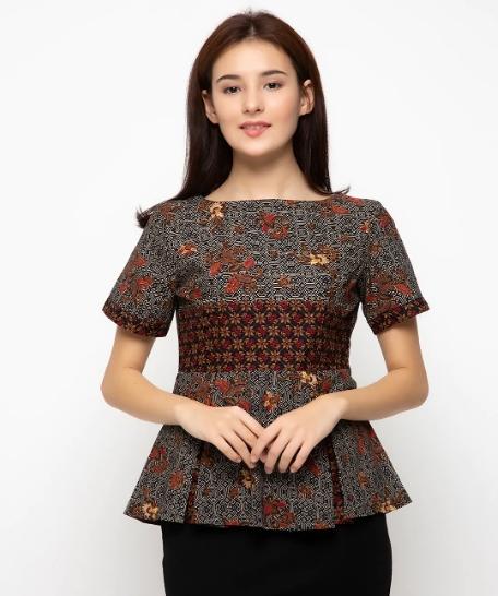 Model Baju Batik Wanita 2015: Model Baju Batik Atasan Untuk Wanita Terbaru