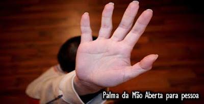 gesto das mãos