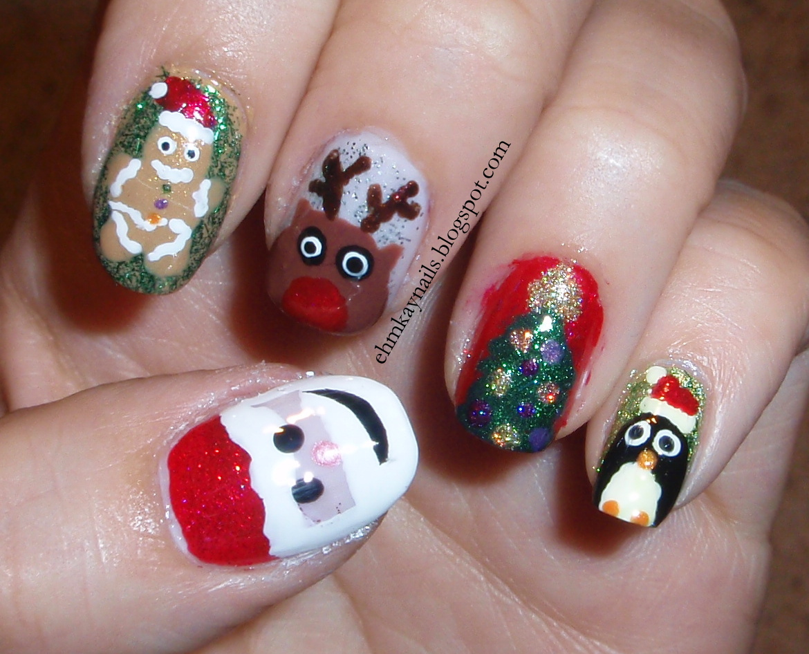 ehmkay nails: Blast from the Past: Christmas Character ...