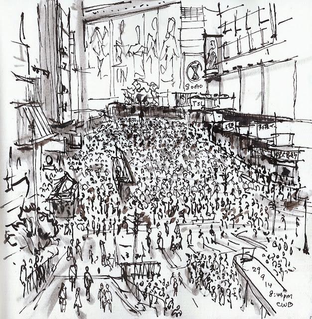 Eyewitness Sketches Of Hong Kong Pro Democracy Protests