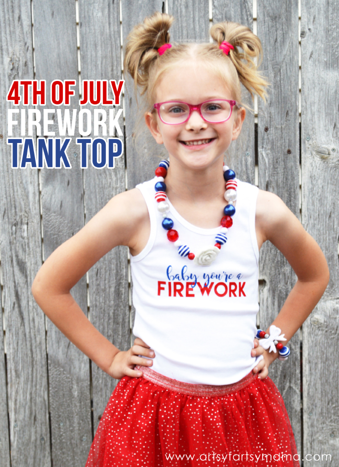 4th of July Firework Tank Top at artsyfartsymama.com