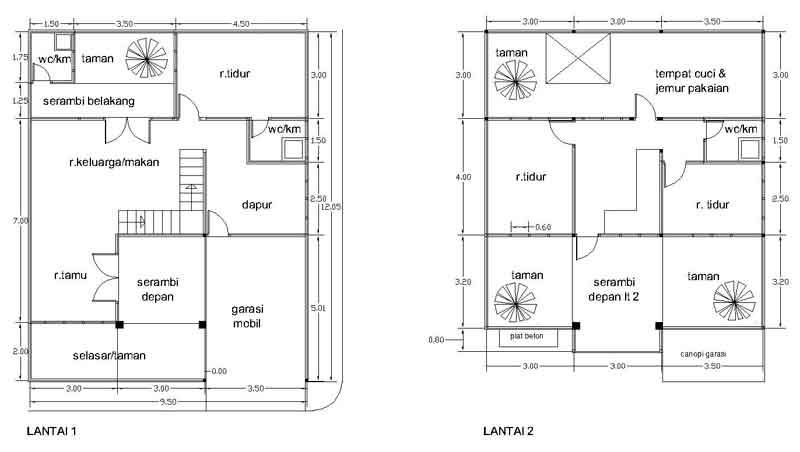 Gbr3. Denah Rumah (Perubahan Type 21/72)