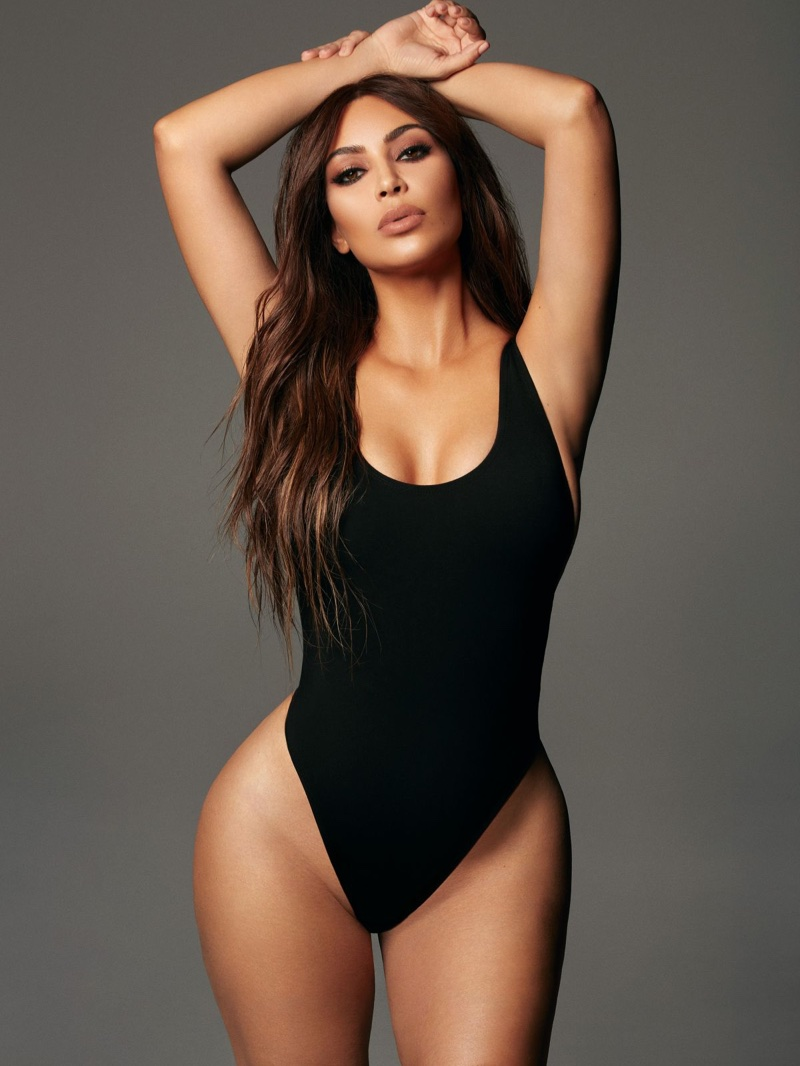 Kim Kardashian flaunts her famous figure in KKW Beauty x Mario campaign