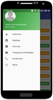 fitur atau menu guru pembelajar online mobile