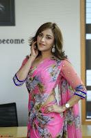 Angela Krislinzki Rogue Movie Fame Telugu Actress in Saree Backless Choli 104.JPG